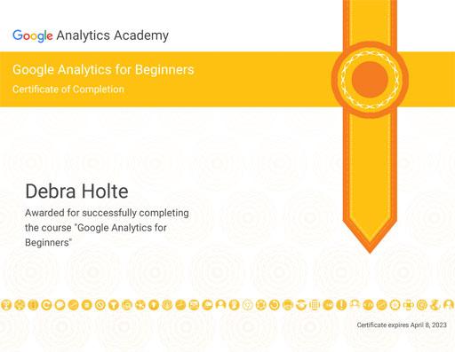 Google Analytics Basic Certification